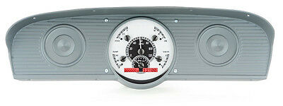 Dakota Digital 61-66 Ford Pickup Truck Analog Gauges Silver Red VHX-61F-PU-S-R