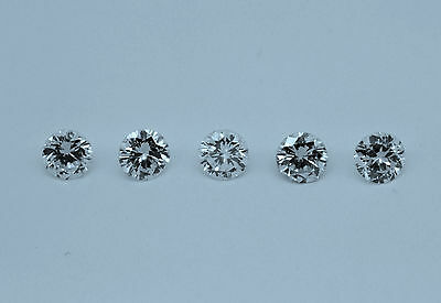 LOT DE 5 DIAMANTS taille MODERNE  -  0.12ct x 5 Total de 0.60 carat