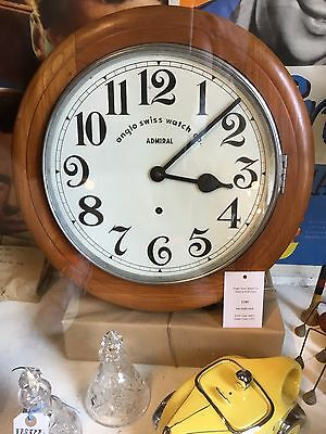 1910 Anglo Swiss Watch co Admiral Station Clock