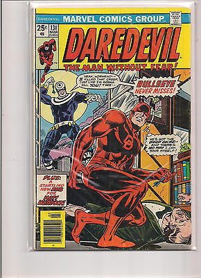 Daredevil #131 First Printing Marvel Comic Book. 1st Appearance of Bullseye!
