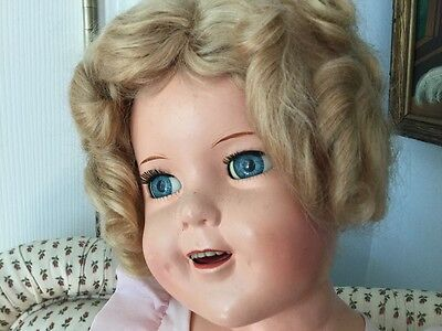 """Gorgeous Vintage 25"""" Ideal Composition Shirley Temple Doll"""
