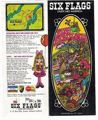 1973 SIX FLAGS OVER MID-AMERICA St. Louis MO Advertising Brochure Mint