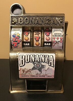 Bonanza Slot Machine Coin Savings Bank  Radica Dallas Texas USA #1
