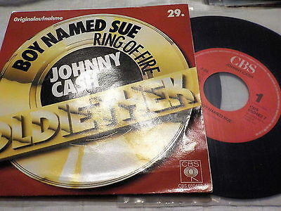 "7"" - *Country* JOHNNY CASH - Ring Of Fire & Boy Named Sue *rare DOUBLE HIT"
