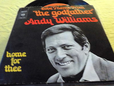 "7""  *60's* ANDY WILLIAMS - Love Theme ""The Godfather"""