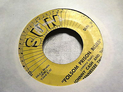 "7"" - *Country*  JOHNNY CASH -  Folsom Prison Bues *SUN #3"