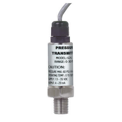 DWYER INSTRUMENTS Pressure Transducer,0-15psi,36 In Lead, 626-07-GH-P1-E1-S1