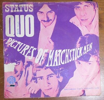 Status Quo: Pictures Of Matchstick Men / Gentleman Joe's Denmark Picture Sleeve