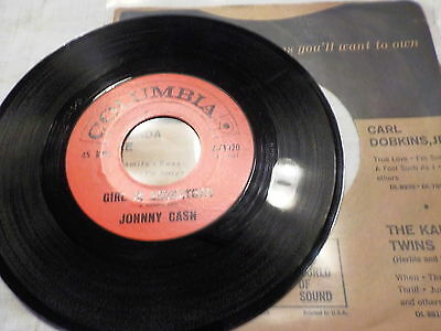 "7"" - *Country* JOHNNY CASH - Girl In Saskatoon *rare Columbia"