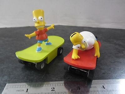 MICRO SCALEXTRIC CARS, THE SIMPSONS on SKATE BOARDS  1:64 scale