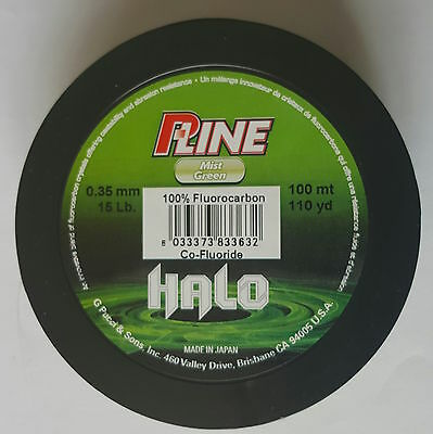 FLUOROCARBON P-LINE HALO  Fishing Line MIST GREEN ALL SIZES