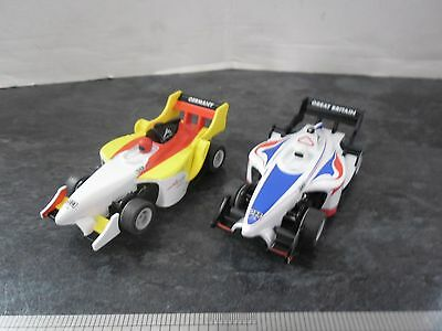 MICRO SCALEXTRIC CARS GREAT BRITAIN and GERMANY SLOT RACERS  1:64 scale