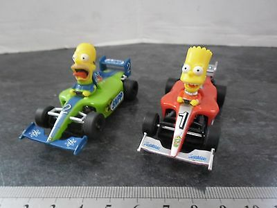 MICRO SCALEXTRIC CARS THE SIMPSONS SLOT CAR RACERS 1:64 scale