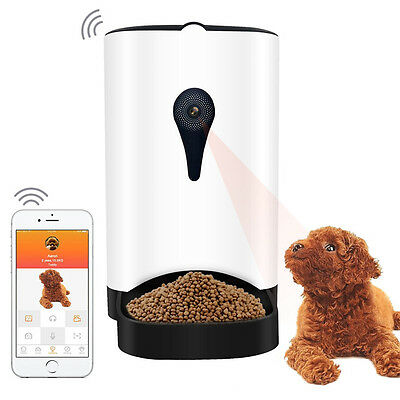 Automatic Food Dispenser App Control, 1MP Camera, Speaker, For Dry FOOD
