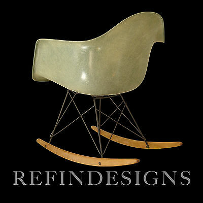 Charles Eames Zenith Herman Miller 1St Prod Rar Sea Foam Rocker Rocking Chair
