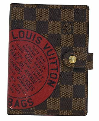 Louis Vuitton Damier Ebene Agenda PM Day Planner Cover Limited TT1180