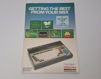 Getting Best From Your MSX Home Computing General Edition Magazine '85 Toshiba