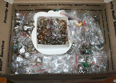 Huge Lot of 1450+ Mostly Metal Novelty Costume Rings Sized & Adjustable ~11LBS