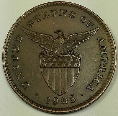 1905 Philippines One Centavo Coin HIGH GRADE MUST SEE! (L208)