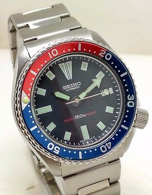 Vintage Seiko Diver 21J Automatic Watch 150M Water Resistant Perfect Condition.