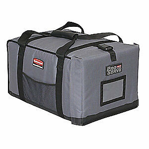 RUBBE Nylon Insulated Carrier,18 1/4x 27x 16, Gray, FG9F1200CGRAY, Charcoal Gray