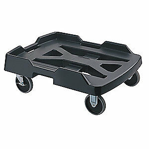 RUBBER Plastic Dolly With Retention Strap,19 1/4x 28, FG9F1900BLA, Charcoal Gray