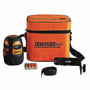 JOHNSON Line/Dot Laser Level,Int/Ext,Red,300 ft., 40-6636