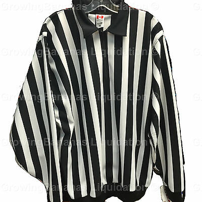 CCM Pro 150S Official Hockey Referee Jersey! Brand New Ref Shirt, SR All Sizes