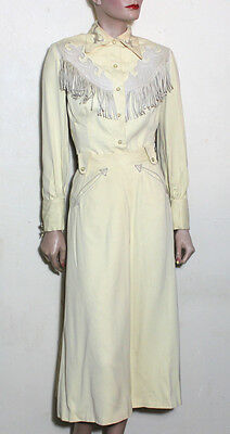 Ranch-Maid vintage western wear outfit 10  distressed leather fringe