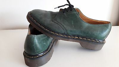 Vintage *Made in England* 1990s Dr Martens Skechers flat green leather boots UK8
