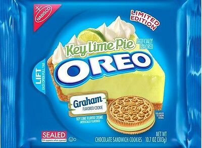 Nabisco OREO KEY LIME PIE Cream Cheese Flavored Creme sandwich Cookies