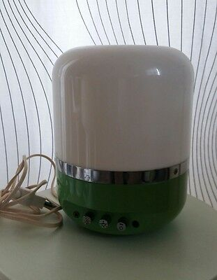 Lampada space age EUROPHON (Designer RAMPOLDI) anni 70 light green