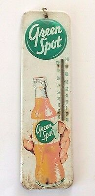 Vintage Green Spot Soda/ Drink Thermometer / Sign-15 1/2''  X  41/2'' Advertisin