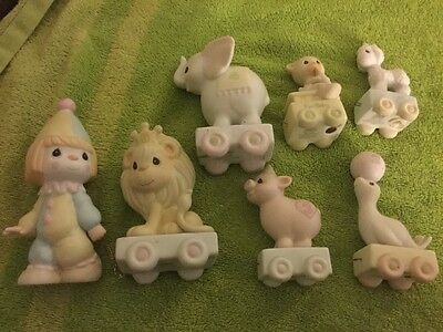 Lot of 7 Precious Moments Birthday Series Train Baby Bear Ages Porcelain