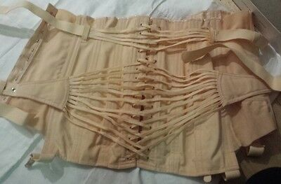 Rare Jennyns fan laced surgical corset C1950's Original Box Near New condition