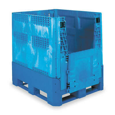 BUCKHORN Collapsible Container,48x40 In,Blue, BG4840460263000, Blue