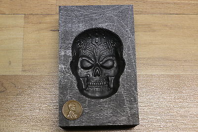 Monster sized Skull mold for pouring copper Silver Gold Glass - Ingot casting