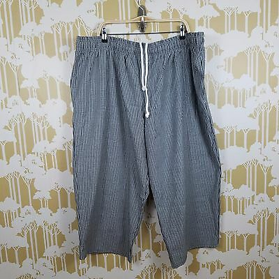 Chef Works Unisex Nwt Size 4Xl Checked Gingham Elastic Waist Drawstring Pants