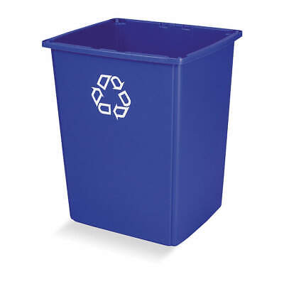 RUBBERMAID Plastic Recycling Container,Blue,56 gal., FG256B73BLUE, Blue
