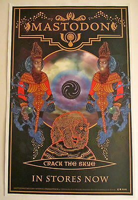 Mastodon *Crack the Skye* RARE Promo Poster Blood Mountain Leviathan The Hunter