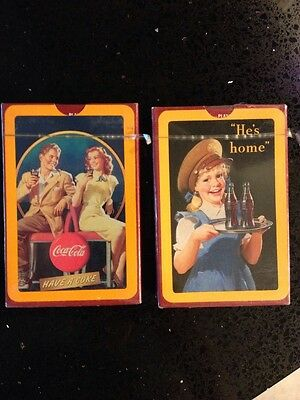 Coca Cola Coke WW II 'He's Home' 50s Nostalgia Playing Cards New Sealed