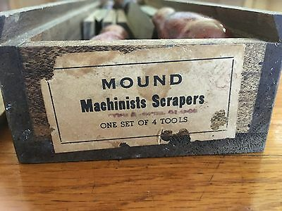 Mound Machinist Scrapers carbide scrapers for hand scraping ways biax nib lathe
