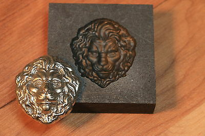 Large Lion Graphite mold for casting Silver Gold Glass Aluminum Tin and Lead