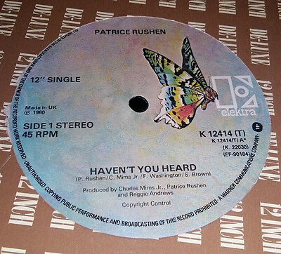 "Patrice Rushen-Haven't You Heard 12"" Record-Elektra K12414"