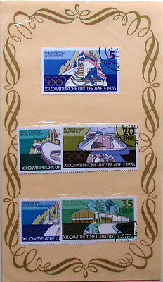 Set Of 5 East Germany Stamps - 1976 Olympic Games - Used, In Sealed Pack