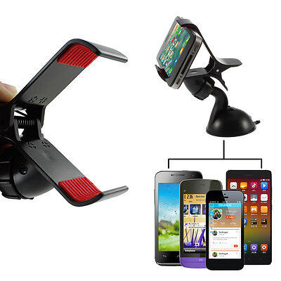 Car Windshield Clip Mount Cradle Holder Stand Plastic For Mobile Cell Phone GPS