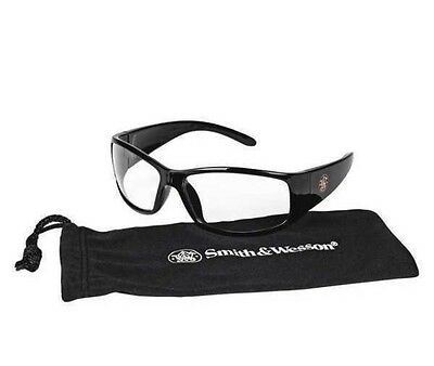 SMITH & WESSON Elite 21302 Black Safety Glasses Clear Anti-Fog Lens 301631279768