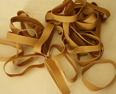 25 Rubber Bands - Universal -Size #84 - 3 1/2 x 1/2 - Strong Large Wide-New