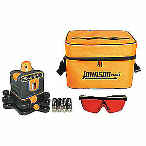 JOHNSON Rotary Laser Level,Int/Ext,Red,800 ft., 40-6502