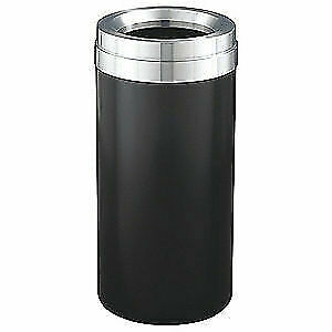GLARO Trash Can,Round,23 gal.,Black, F1537-BK-SA, Black
